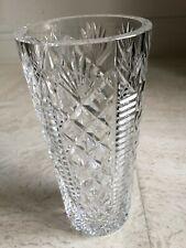 """Vintage Discontinued Waterford Crystal Vase 8 """"tall Pineapple & Diamond Skyshell"""