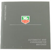 TAG HEUER AUTOMATIC AND CHRONOMETER WATCHES INSTRUCTIONS BOOKLET