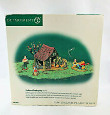 Dept 56 New England Village It'S Almost Thanksgiving Set of 4 #56639