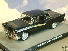 DE METAL 1/43 JAMES BOND 007 FORD FAIRLANE SKYLINER DE THUNDERBALL EN NEGRO