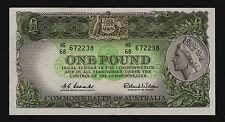 One Pound Banknote 1961 Coombs Wilson R34a HG/68