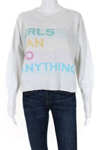 Zadig & Voltaire Womens Girls Can Do Anything Sweater Multicolor Size Medium