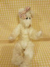 "Ty Attic Treasures Nola The White Bear W/Bow 2nd Gen Tt 1993 pvc 11"" Rare #6044"