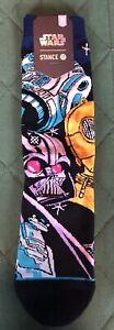 Men's Star Wars Stance Socks Medium Darth Vader C3PO R2-D2