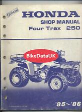 Honda TRX250 Four-Trax ATV Quad (85-86) Factory Shop Manual Book TRX 250 DD61