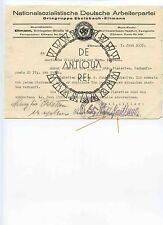 III REICH WW2 WK2 IIWW MILITARIA TEDESCA RRR ORTSGRUPPE NSDAP XX WH KM HJ