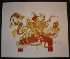 Yakuza Samurai Asian Art Poster Print Rica Charky Numbered 2009