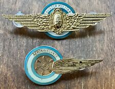 Two Brevet, one Pilot Wings & another Air Navigation of the Argentine Air Force