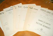 Lot 9 Sheet Song Music 1898 – 1928 Victor Herbert Hammerstein