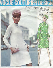 1968 Vintage VOGUE Sewing Pattern DRESS B32 1/2 (1159) By Michael of London