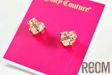 Juicy Couture 'Wishes' Banner Heart Stud Earrings Rosegold
