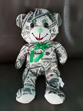 Applause Stuffed Plush Green ( $ bills) Teddy Bear 15""