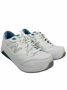 New Balance 928v3 Womens Leather Athletic Walking Shoes Size 10 White Blue New