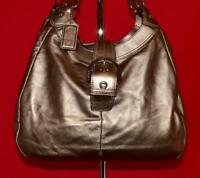COACH SOHO LYNN Gold Leather Shoulder Shopper Buckle Carryall Purse Bag 17092