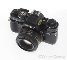 Minolta X-700 Black 35mm Film Camera w 50mm F1.7 Lens -New Seals-