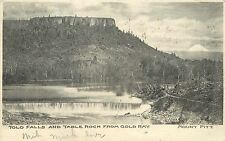 c1906 Postcard; Tolo Falls, Table Rock from Gold Ray, Mt. Pitt, Chelan County WA
