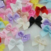Mini Satin Ribbon Flowers Bows Gift Crafts Wedding Decoration Upick 100Pcs Satin