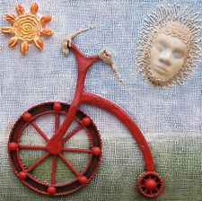 """Original art - """"Dreaming of Red Bike"""" - mixed-media 3-D"""