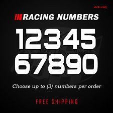 Racing Numbers Vinyl Decal Sticker Dirt Bike Plate Number Bmx Competition 503
