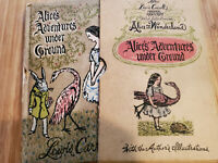 1953 Alice's Adventures Under Ground by Lewis Carroll  -  Rare Manuscript Book