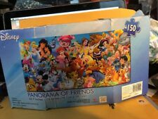 """Disney Panorama Of Friends puzzles 150 pieces  30.7 """"x 15""""   1 Set Ages 9+"""