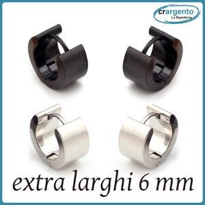 orecchini cerchio uomo acciaio inox cerchietti piccoli molto spessi da in per a