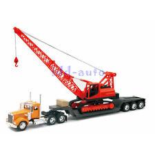 NEW RAY 1/32 Kenworth W900 Lowboy with Construction Crane Yellow/ Orange 11293C