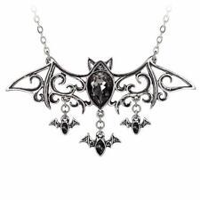 Alchemy vienés noches Gótico Murciélago Vampiro estaño collar Colgante Swarovski