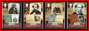 Gibraltar 2012 BRITISH WRITER Ch. DICKENS (COMPLETE SET of STAMPS) MNH