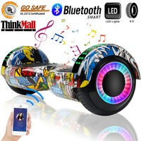 """6.5"""" Bluetooth Music Hoverboard Smart Self Balance LED Electric Scooter Bag"""