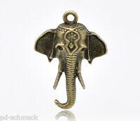 PD: 30 Bronzefarben Elefant Charms Anhänger 25x18mm