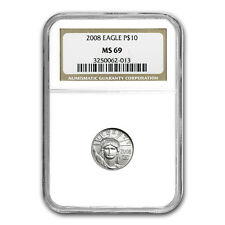 1/10 oz Platinum American Eagle MS-69 NGC (Random Year) - SKU #83520