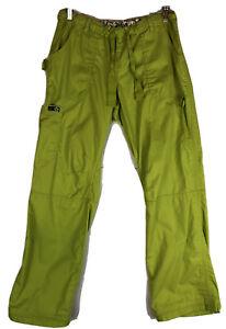 Koi by Kathy Peterson Women's Sz M Lindsay Style Scrub Pants Chartreuse Green