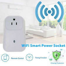 Remote Control Timer Switch WiFi Smart Outlet Power Socket Us Plug for Cellphone