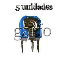 5 Potenciometro Vertical 500 Ohm 1/2 W  Resistencia Variable ajustable
