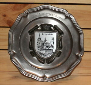 1983 German Ges. Gesch hand made pewter wall hanging plate