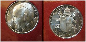 Citta' del Vaticano/ Vatican Giovanni Paolo II 500 Lire 1980 fdc/unc arg anno II