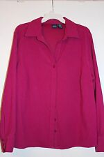 Collared Basic Editions Women's Long Sleeved Rose Pink Shirt Jacket 1X Plus