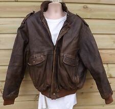Vintage Brown Leather A2 Flight / Pilot / Aviator Jacket - L