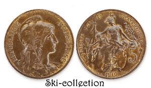 5 Centimes 1916. Dupuis. France. Bronze. Belle qualité et patine