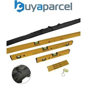 Stabila 6 Piece Spirit Level Set Type 70 30 60 180cm Level Bag Pencils STB702COM