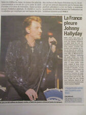 JOURNAL DU SOUVENIR DE: JOHNNY HALLYDAY - 07/12/2017 -LA FRANCE PLEURE JOHNNY -