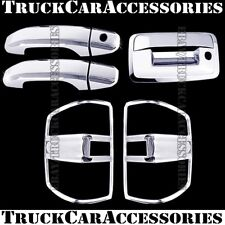 For CHEVY Silverado+HD 2014 2015 2016 Chrome Covers 2 Doors+Tail Lights+Tailgate