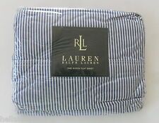 VINTAGE RARE~np~Ralph Lauren CLASSIC UNIVERSITY STRIPE QUEEN Size Bed Flat Sheet