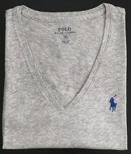Polo Ralph Lauren Pony Pima 100 Cotton Jersey V-neck Tee Shirts All Sizes Taylor Heather Grey XS