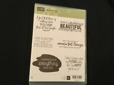 Retired Stampin' Up JUST ADD TEXT, New, Clear