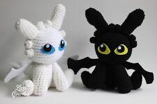 Night Fury Toothless Light Furry How to train your dragon Chibi Plushie Ami