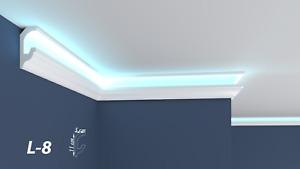 XPS Polystyrene LED Indirect Lighting Up lighter Lightweight Coving Cornice L-8