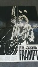 johnny hallyday   poster  4 pages ou peter frampton