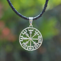1pc Viking odin's Symbol of Norse Runic Pendant Necklace Runes Compass Pattern